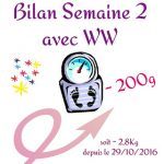 {★ Bilan Semaine #2 ~~ Weight Watchers ★}