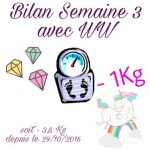 {★ Bilan Semaine #3 ~~ Weight Watchers ★}