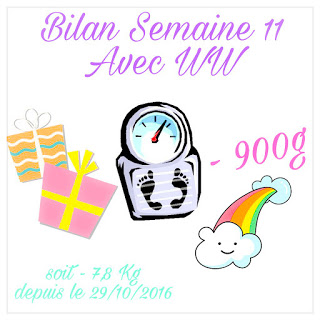 {★ Bilan Semaine #11 ~~ Weight Watchers ★}